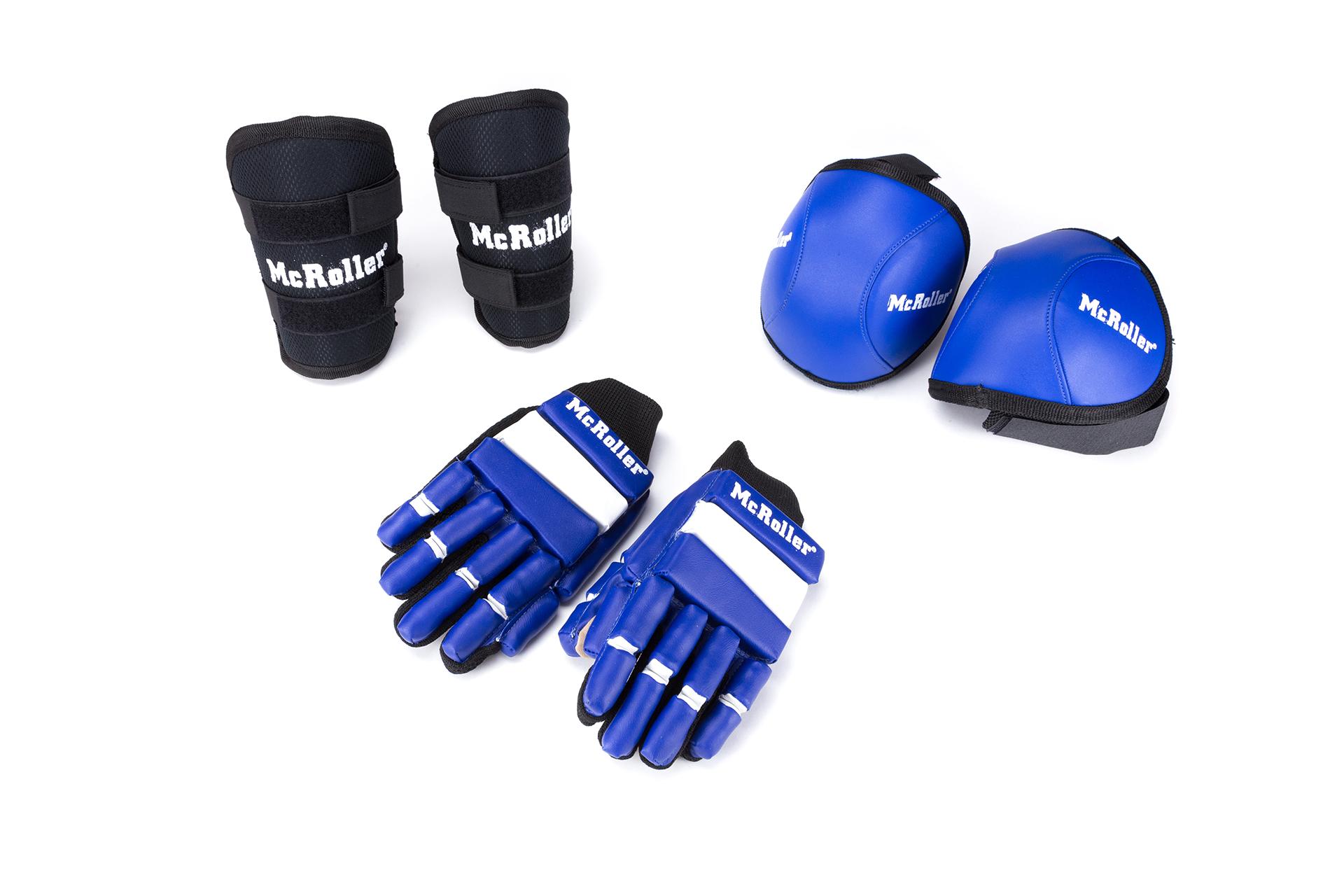 pack guantes rodilleras espinilleras hockey patines